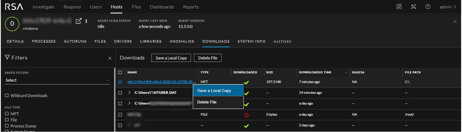 Save Downloaded MFT
