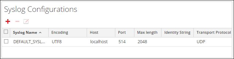 Configure syslog settings