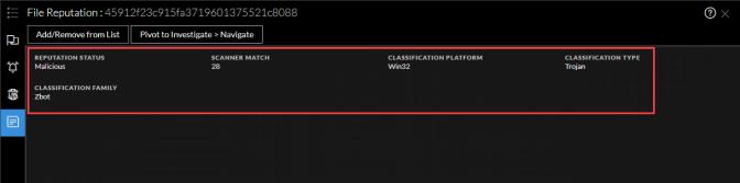 File reputation details
