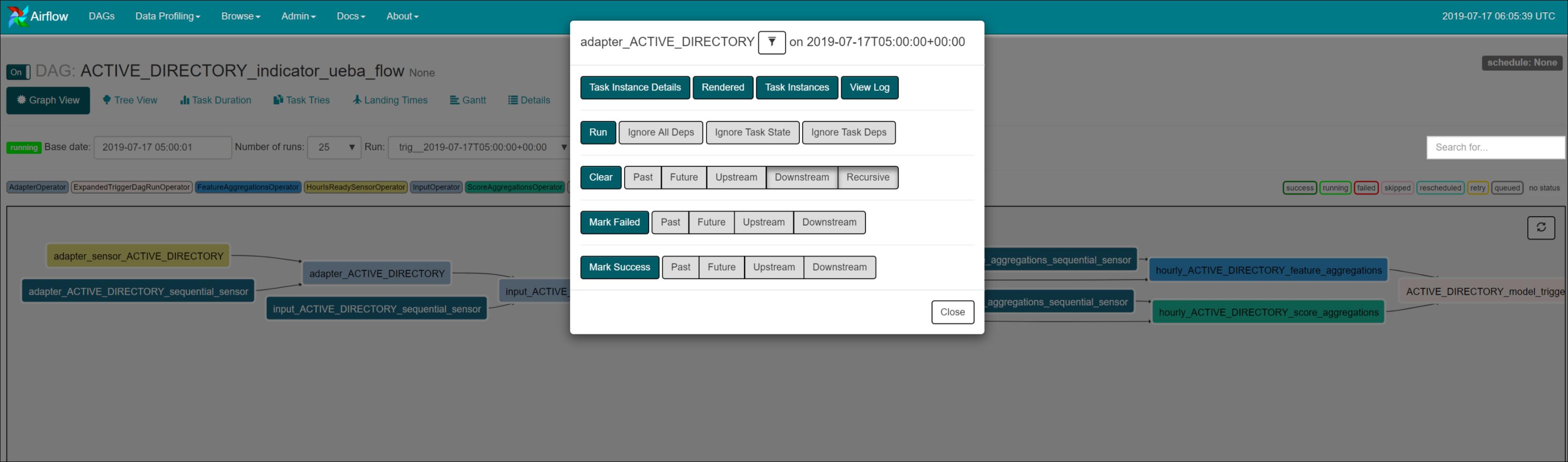 Click Task Instance details