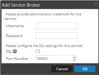Add Service Broker Dialog Box