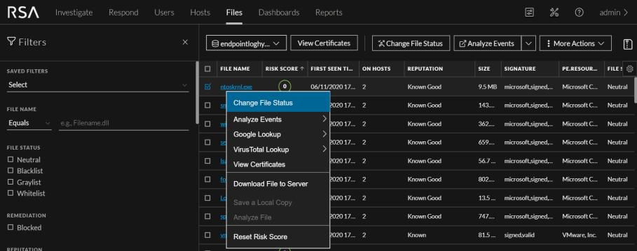 Change File Status
