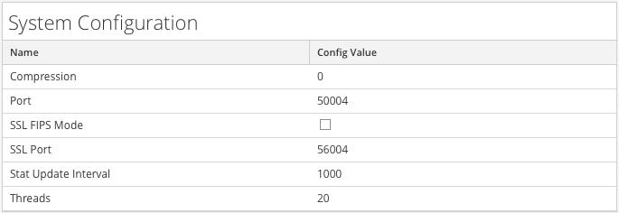 Default System Configuration Parameters for a Decoder