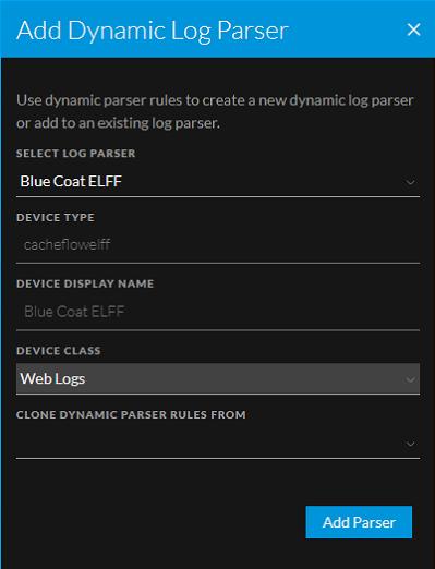 add dynamic log parser example