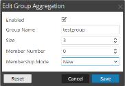 Edit Group Aggregation