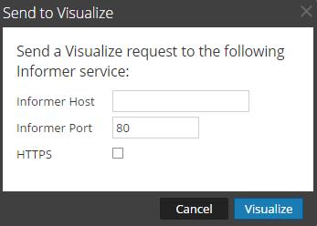 Send to Visualize dialog