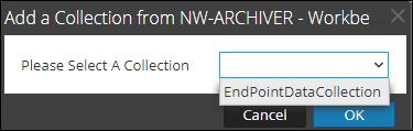 Adding collection data source dialog