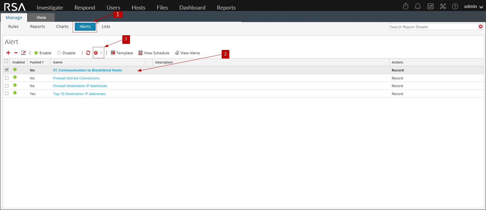 import alert workflow