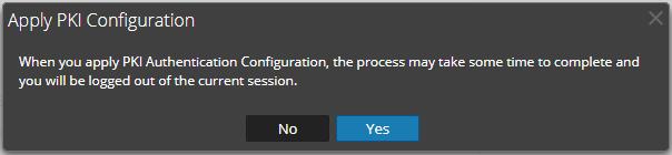 Apply PKI configuration message