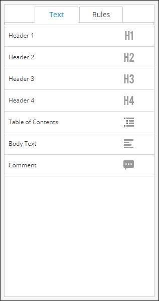 Text Panel