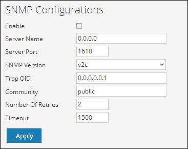 Configure SNMP settings