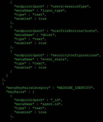 Default meta mappings