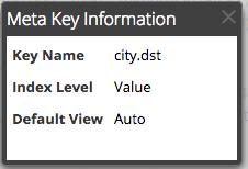 the Meta Key Information dialog