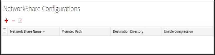 Configure Nettwork Share configurations