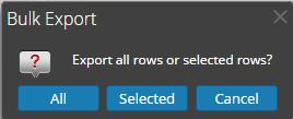 Bulk Export dialog is displayed.