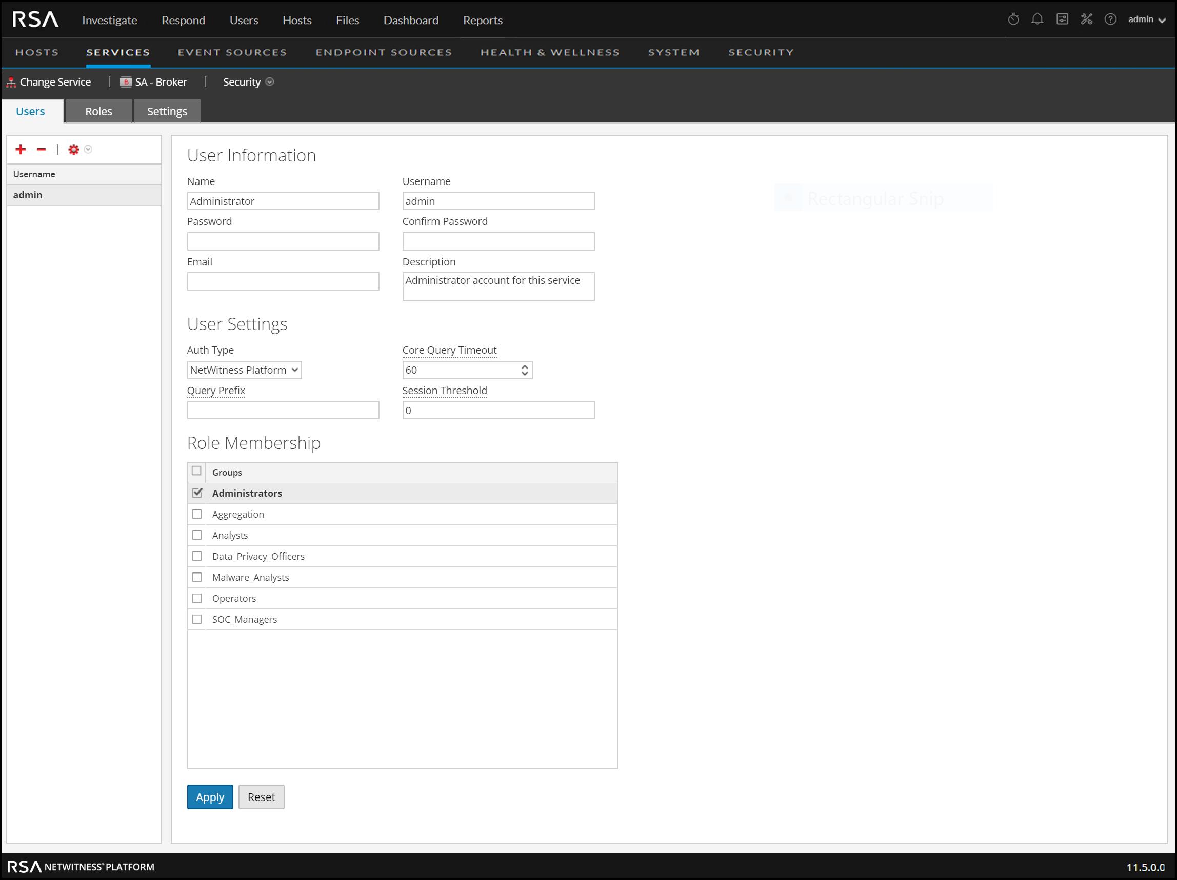 Set Parameters for NWDB Data Source