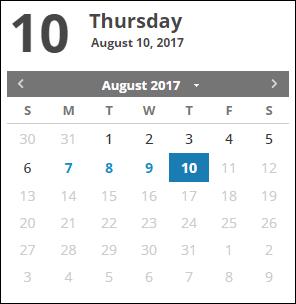 Reports Calendar View