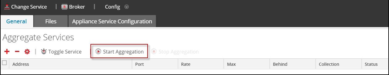 Start Aggregation