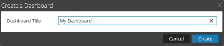 Create a Dashboard dialog