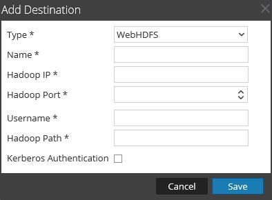 add WebHDFS destination