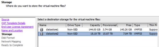 Storage options are displayed