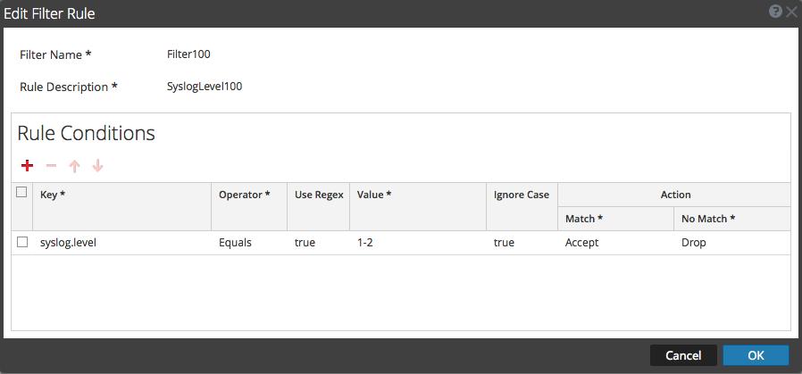 Edit Filter Rule dialog is displayed.