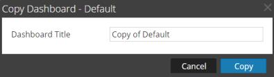 Copy Dashboard dialog