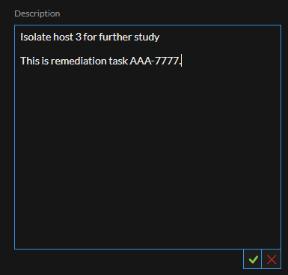 Task Description field text editor