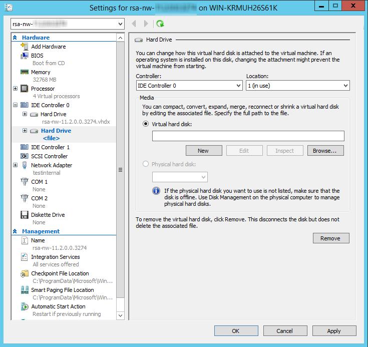 Select New Virtual Hard disk