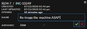 Task Name edit text box