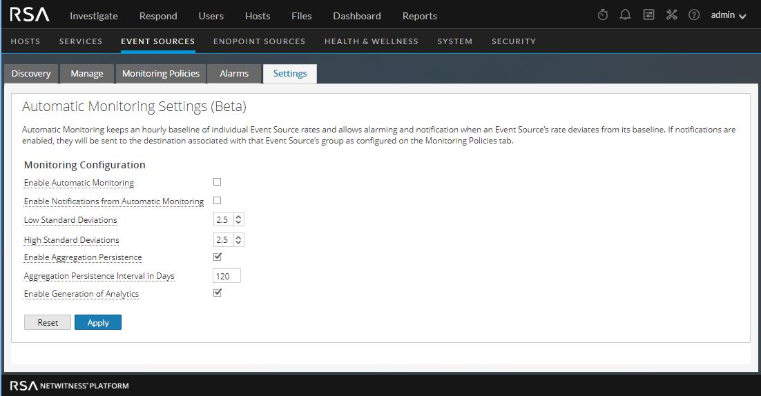 Settings tab is displayed.
