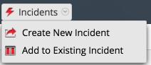 Incidents menu