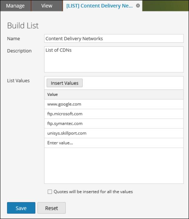 Build List View