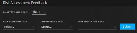 Risk Feedback panel