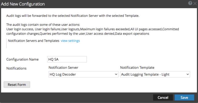 Add new Configuration dialog box