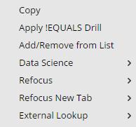 Meta context menu