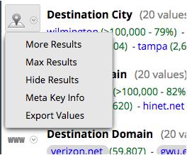Meta key drop-down for Version 11.1