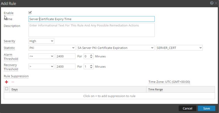 Statistics for Server Certificate expiration
