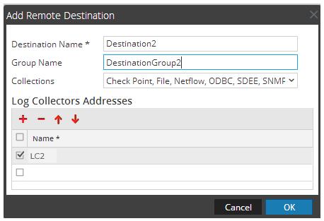 Add Remote Destination dialog is displayed.