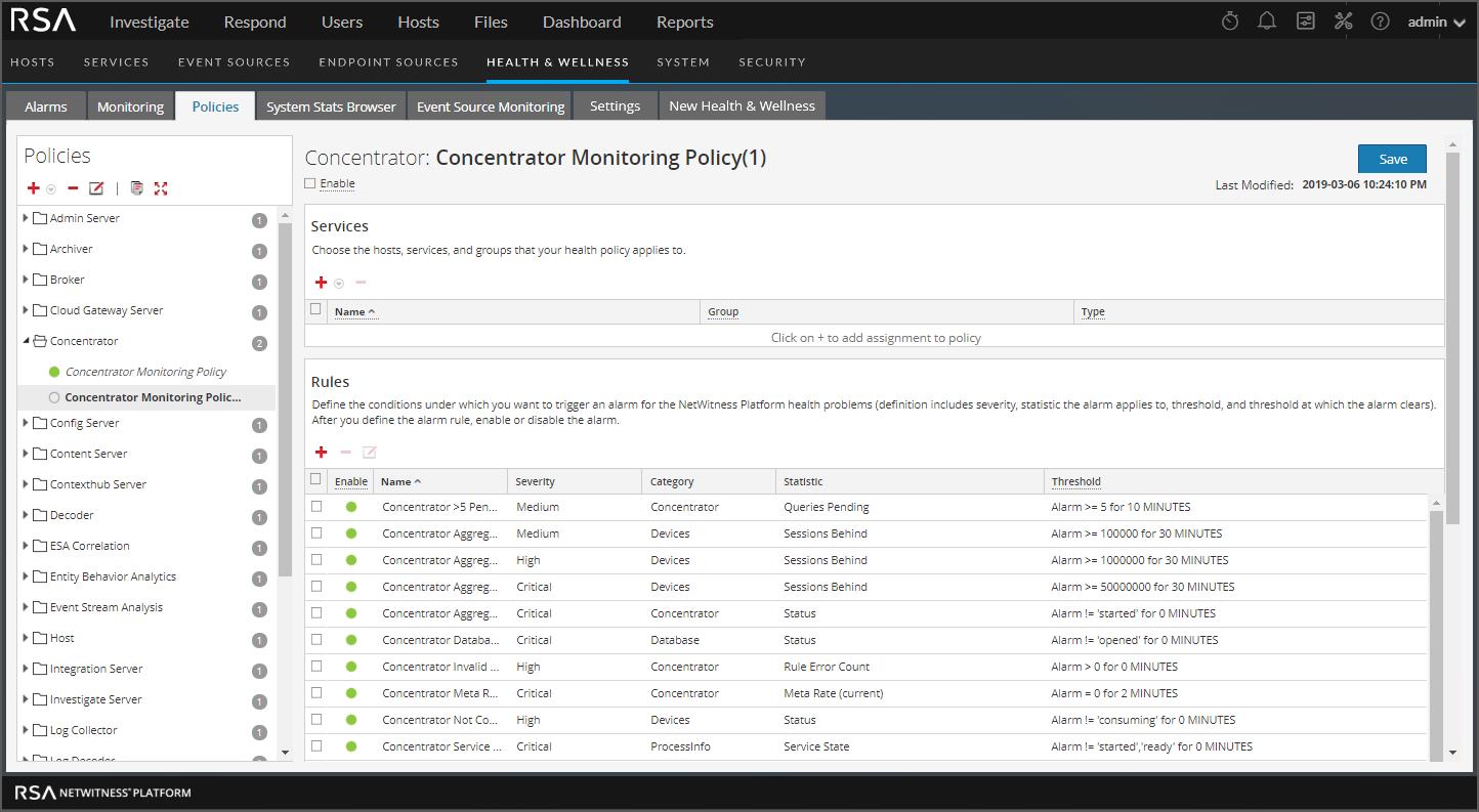Decoder monitoring policy